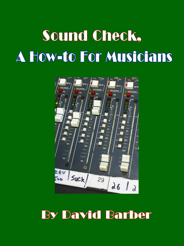 Sound check book cover